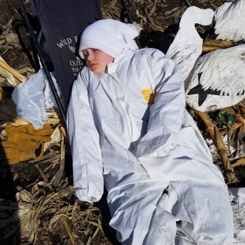 Snow Goose Hunting Decoy Spread